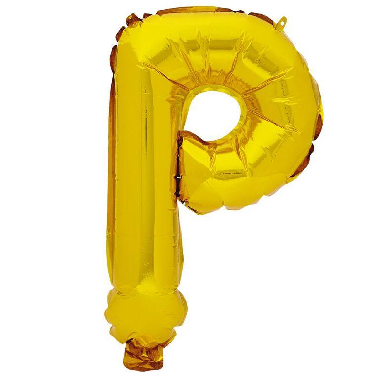 Artwrap Foil Balloon P Gold 35cm, , hi-res