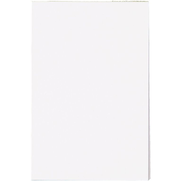 WS Unruled Scribble Pad 100 Sheets 152x100mm White, , hi-res