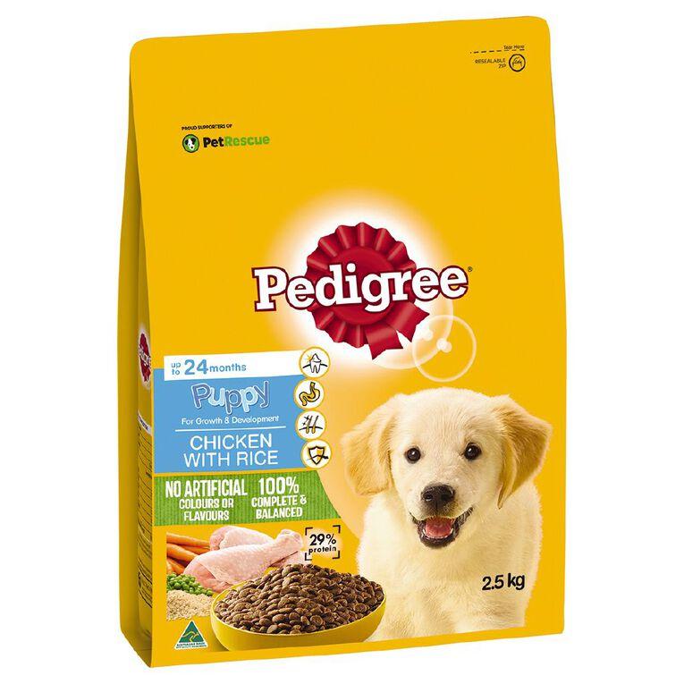 Pedigree Puppy Dry Dog Food Chicken & Rice 2.5kg Bag, , hi-res