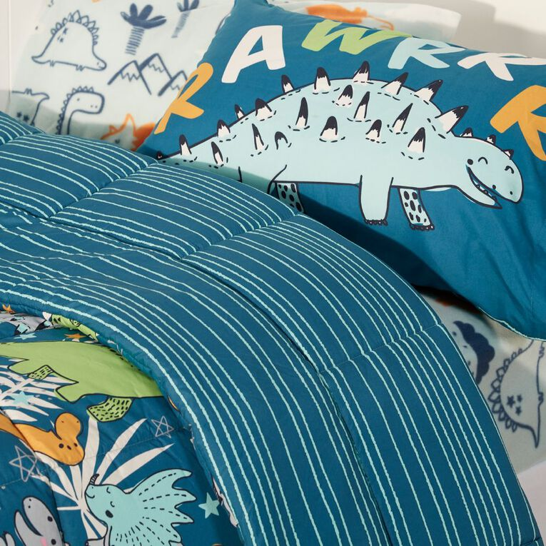 Living & Co Kids Bed In a Box Set Dino Aqua Single, , hi-res image number null