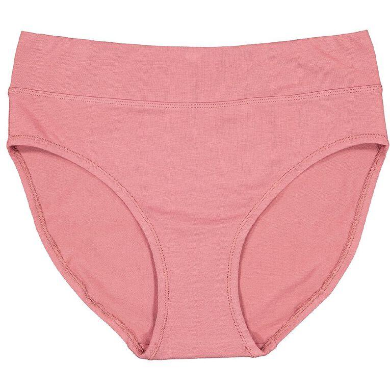 Underworks Women's Smooth Line Hi-cut Briefs 2 Pack, Pink/Grey, hi-res