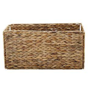 Living & Co Water Hyacinth Madrid Folding Basket Natural