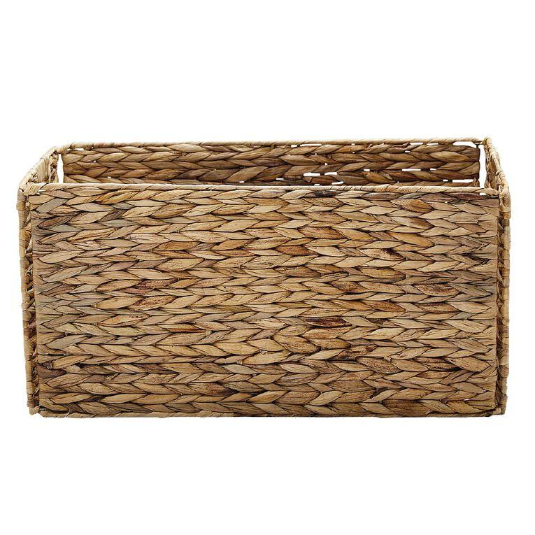 Living & Co Water Hyacinth Madrid Folding Basket Natural, , hi-res