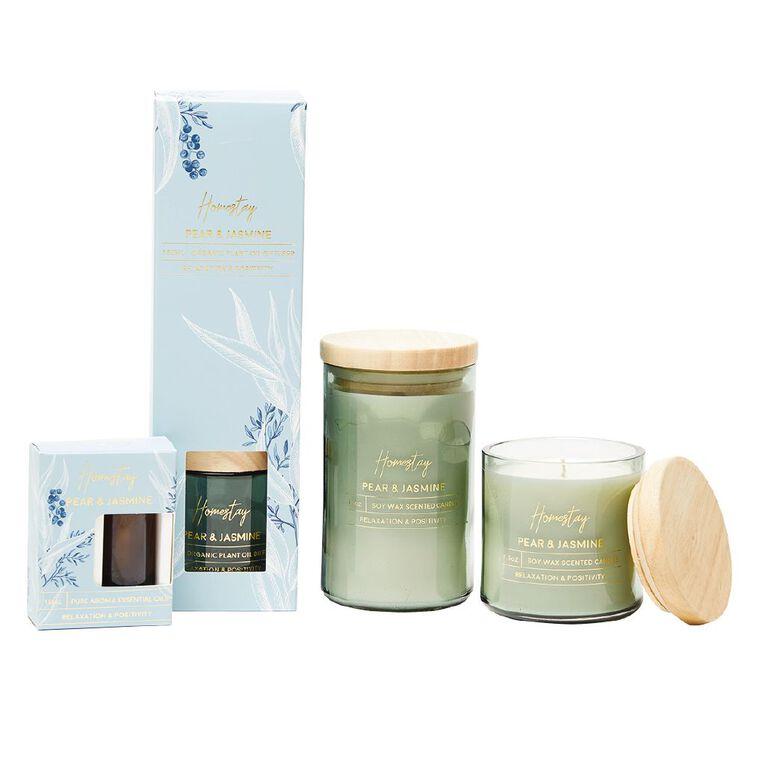 Living & Co Homestay Diffuser Pear & Jasmine Green 150ml, Green, hi-res