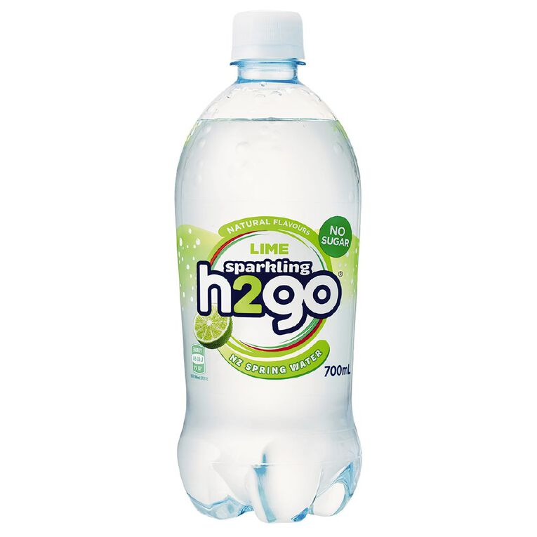 H2go Flavoured Water Sparkling Lime 700ml, , hi-res