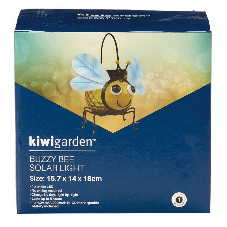Kiwi Garden Buzzy Bee Solar Light, , hi-res