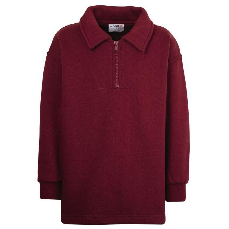 Schooltex Kids' Zip Fleece Tunic, Burgundy, hi-res image number null