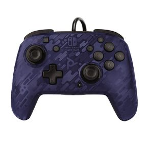 Nintendo Switch PDP Wired Controller Blue Camo