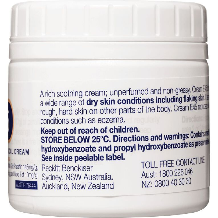 Dermatological E45 Cream for Dry Skin Conditions 125g, , hi-res