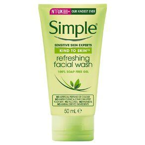 Simple Mini Kind To Skin Refreshing Face Wash 50ml
