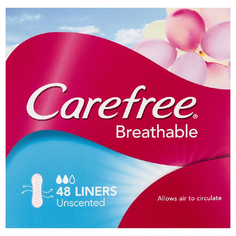 Carefree Panty Liners Breath 48 Pack, , hi-res
