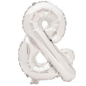 Artwrap Foil Balloon Ampersand Silver 35cm