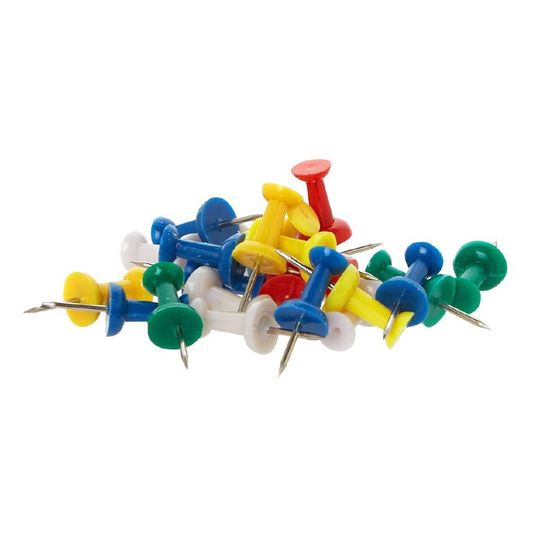 WS Push Pins 100 Pack Assorted, , hi-res