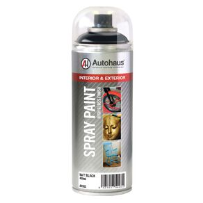 Autohaus Spray Paint Matt Black 400ml