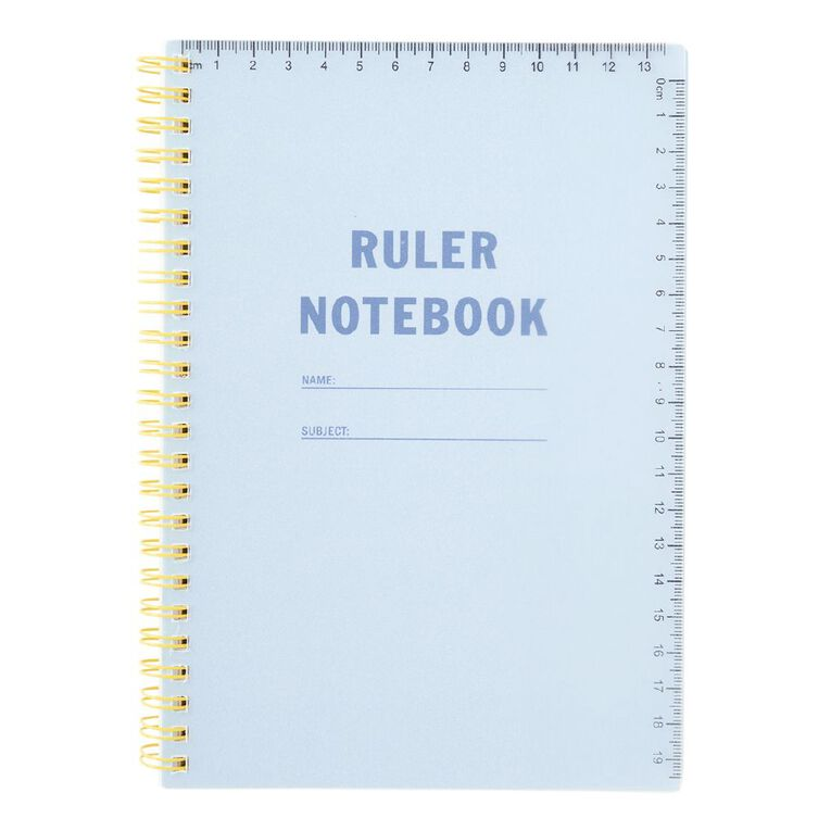 Uniti Back To School A5 Notebook Spiral Blue Light, , hi-res