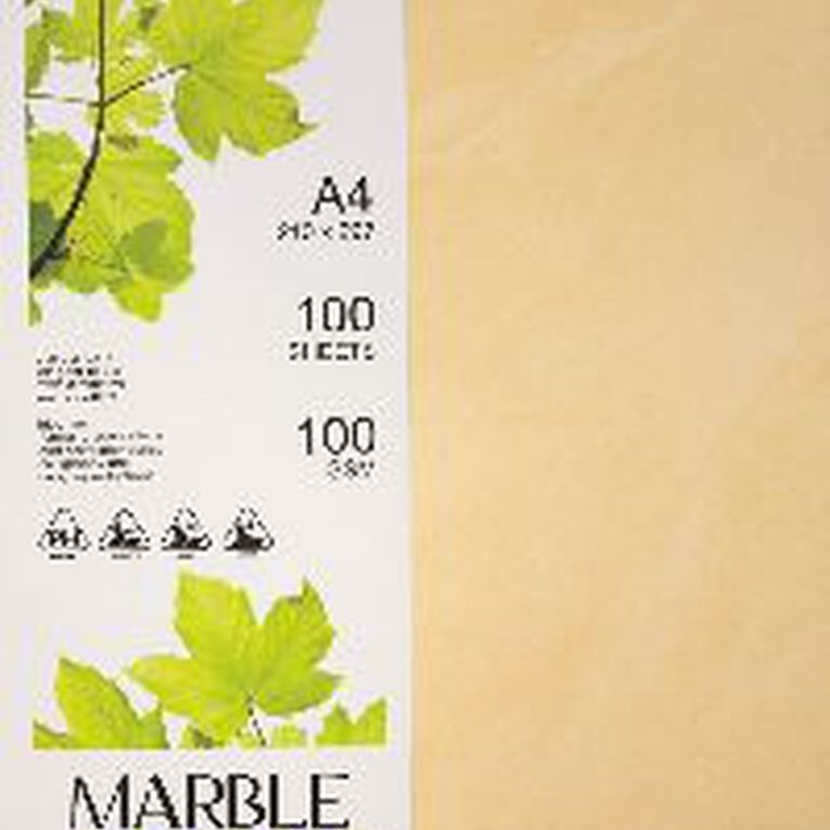 Direct Paper Marble Paper 100gsm 100 Pack Yellow A4, , hi-res
