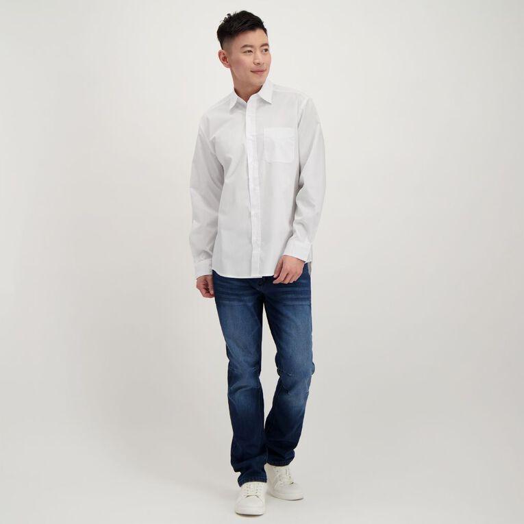H&H Men's Long Sleeve Formal Shirt, White, hi-res