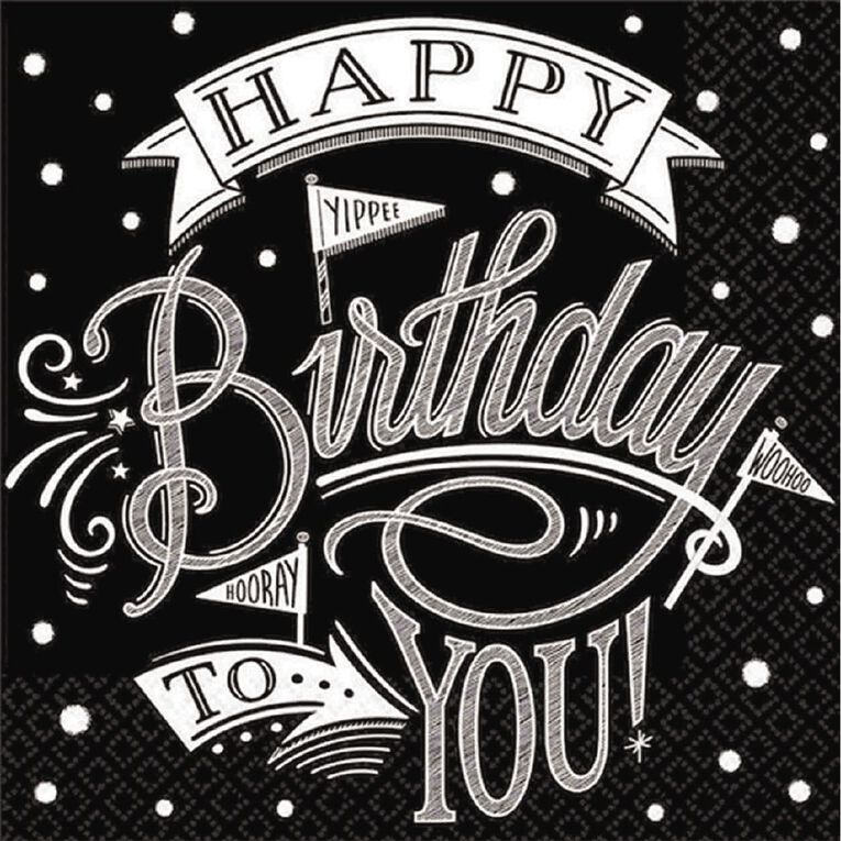 Amscan Hooray Its Your Birthday Lunch Napkins 36 Pack, , hi-res