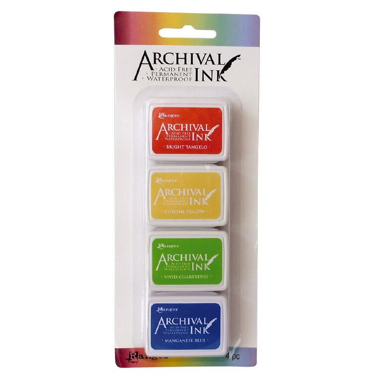Ranger Archival Mini Ink Pads 4 Pack Spring, , hi-res
