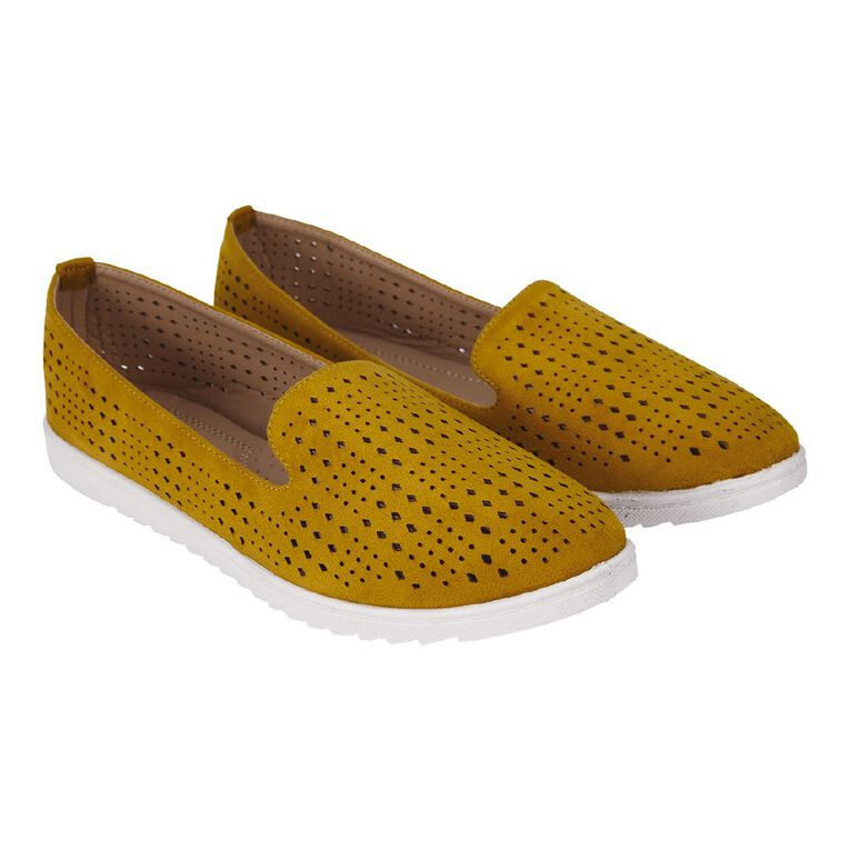 H&H Laura Ballet Shoes, Yellow, hi-res