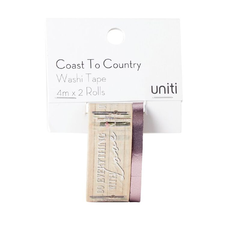 Uniti Coast to Country Washi Tape 2 pack Design 2, , hi-res