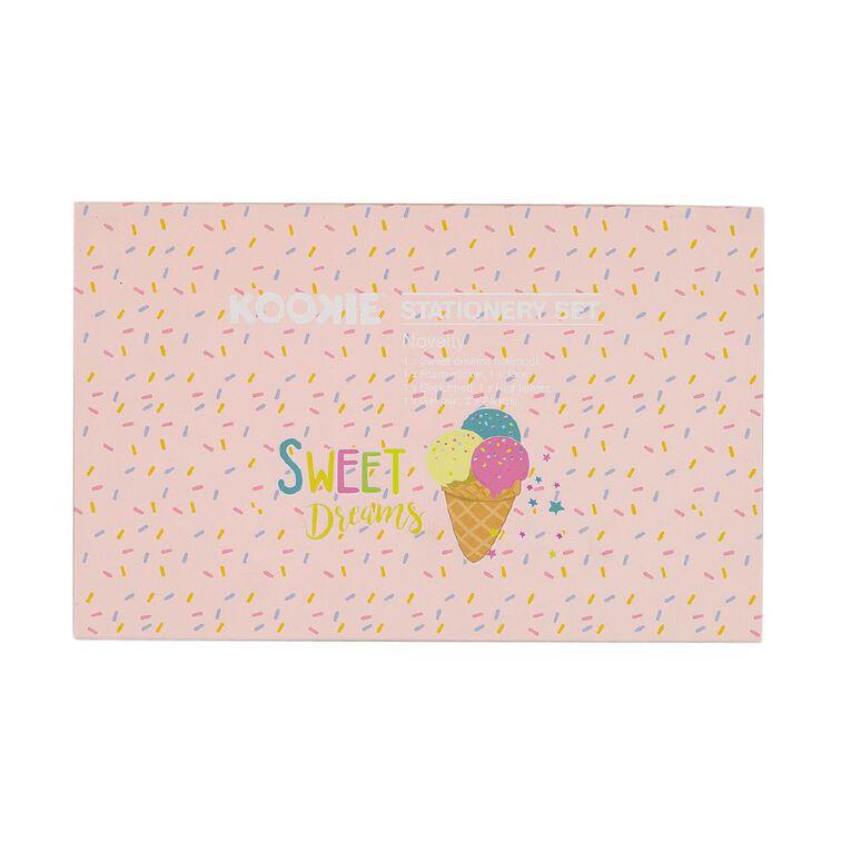 Kookie Novelty Stationery Set Ice Cream Pink, , hi-res