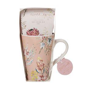 Floral Pink Mug & Cocoa Mix 28g