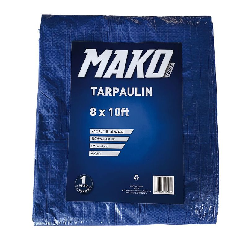Mako Tarpaulin 70gsm 8ft x 10ft Blue, , hi-res