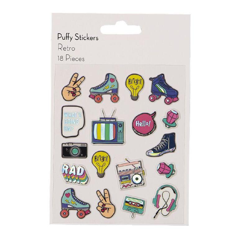 Uniti Puffy Stickers Retro, , hi-res