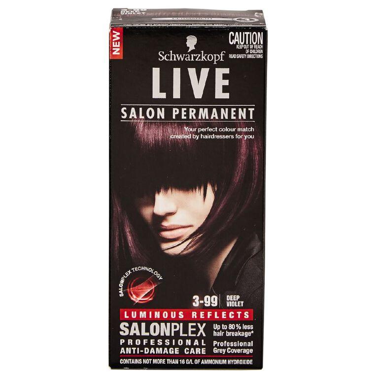 Schwarzkopf Live Salon Permanent 3-99 Deep Violet, , hi-res