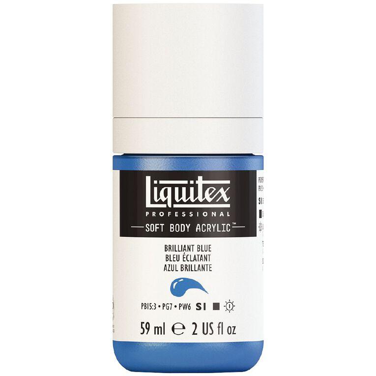 Liquitex Soft Body Acrylic 59ml Brilliant Blue S1, , hi-res