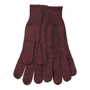 H&H Women's Cable Knit Gloves
