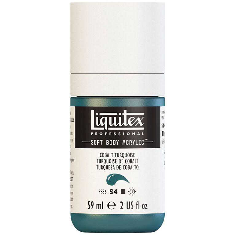 Liquitex Soft Body Acrylic 59ml Cobalt Turquoise S4, , hi-res
