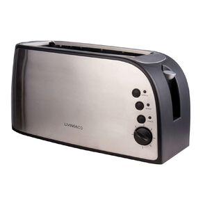 Living & Co Toaster Long 4 Slice Stainless Steel