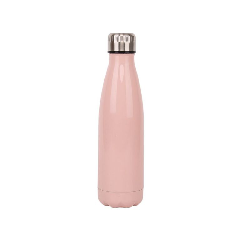 Living & Co Stainless Steel Drink Bottle Pink 500ml, , hi-res