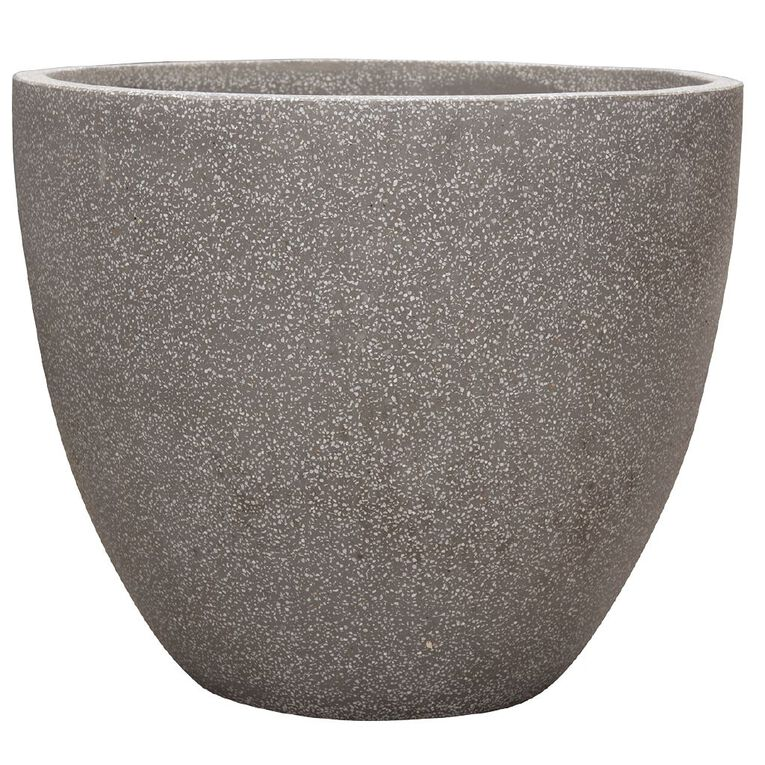 Kiwi Garden Lightweight Cement Egg Planter Grey 37cm, , hi-res