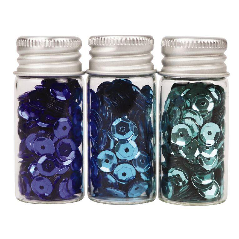 Uniti Sequins Blues 3 Pack, , hi-res