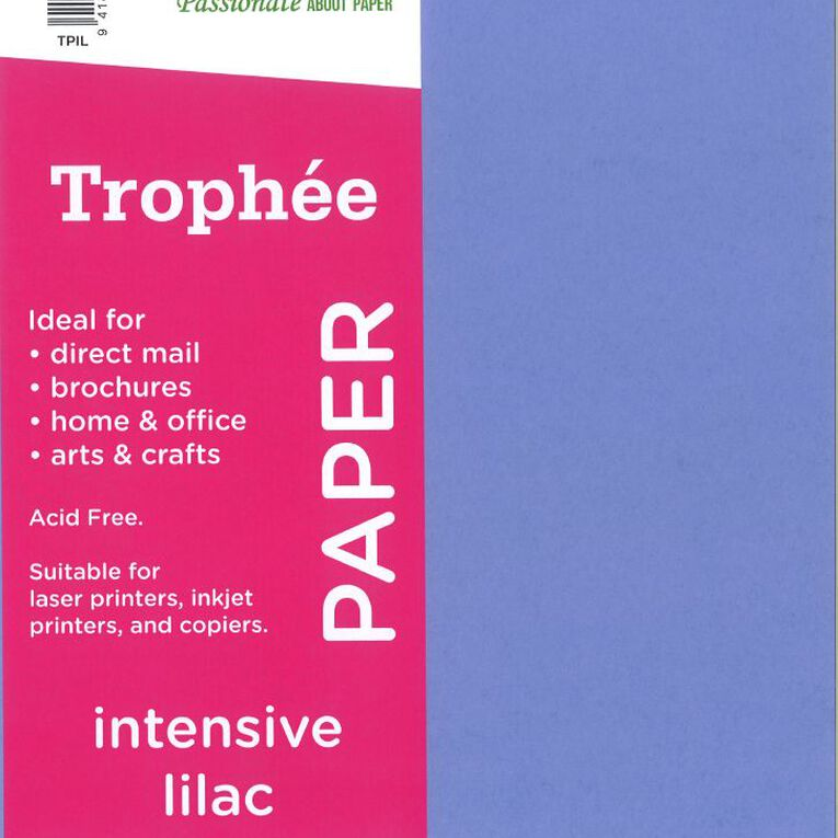 Trophee Paper 80gsm 30 Pack Intensive Lilac Purple A4, , hi-res image number null