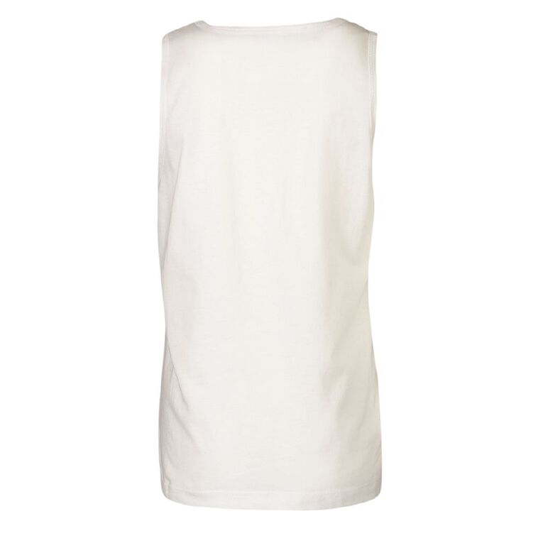 Young Original Plain Singlet, White, hi-res