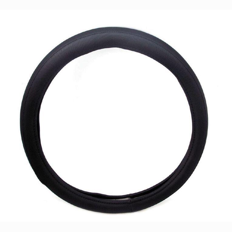 Mako Steering Wheel Cover Polyester Black, , hi-res