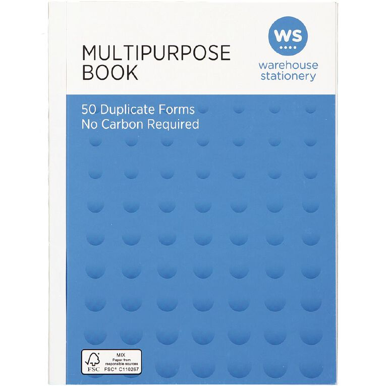 WS Multibook Duplicate Ncr 50 Forms Green A5, , hi-res