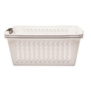 Living & Co Storage Basket Medium White 3 Pack