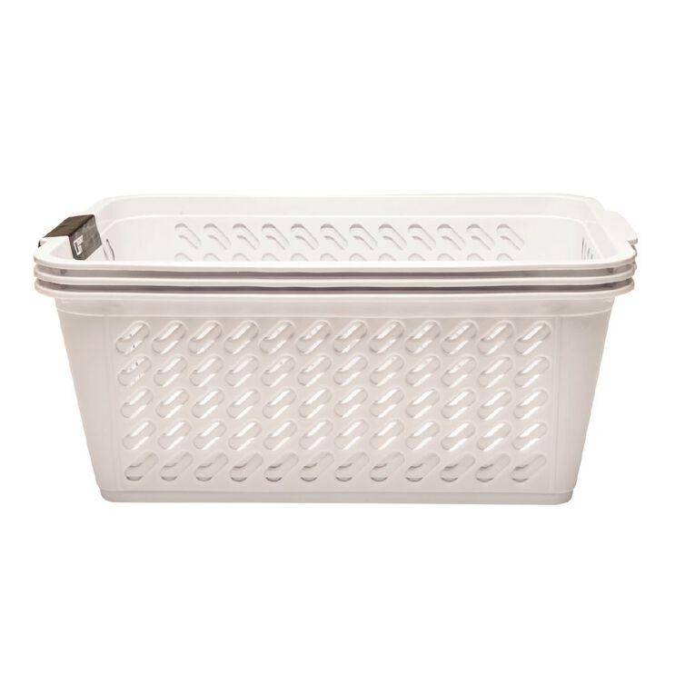 Living & Co Storage Basket Medium White 3 Pack, , hi-res
