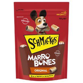 Schmackos Dog Treats Marrobones 737g