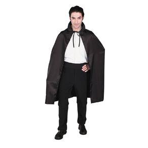 Scarehouse Satin Cape with Collar 102cm Black Adult