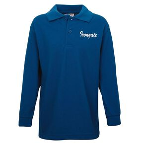 Schooltex Irongate Long Sleeve Polo with Screenprint