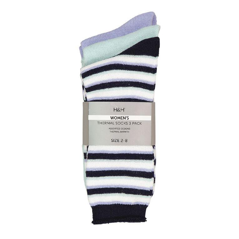 H&H Women's Thermal Socks 3 Pack, Green Light, hi-res image number null