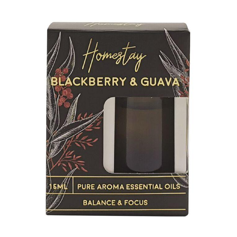 Living & Co Homestay Blackberry & Guava Black 15ml, Black, hi-res