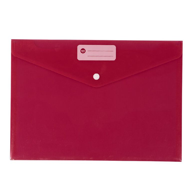 WS Document Envelope Single Dome Pink, , hi-res
