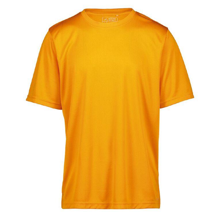 Active Intent Men's Cooldry Tee, Orange Mid, hi-res